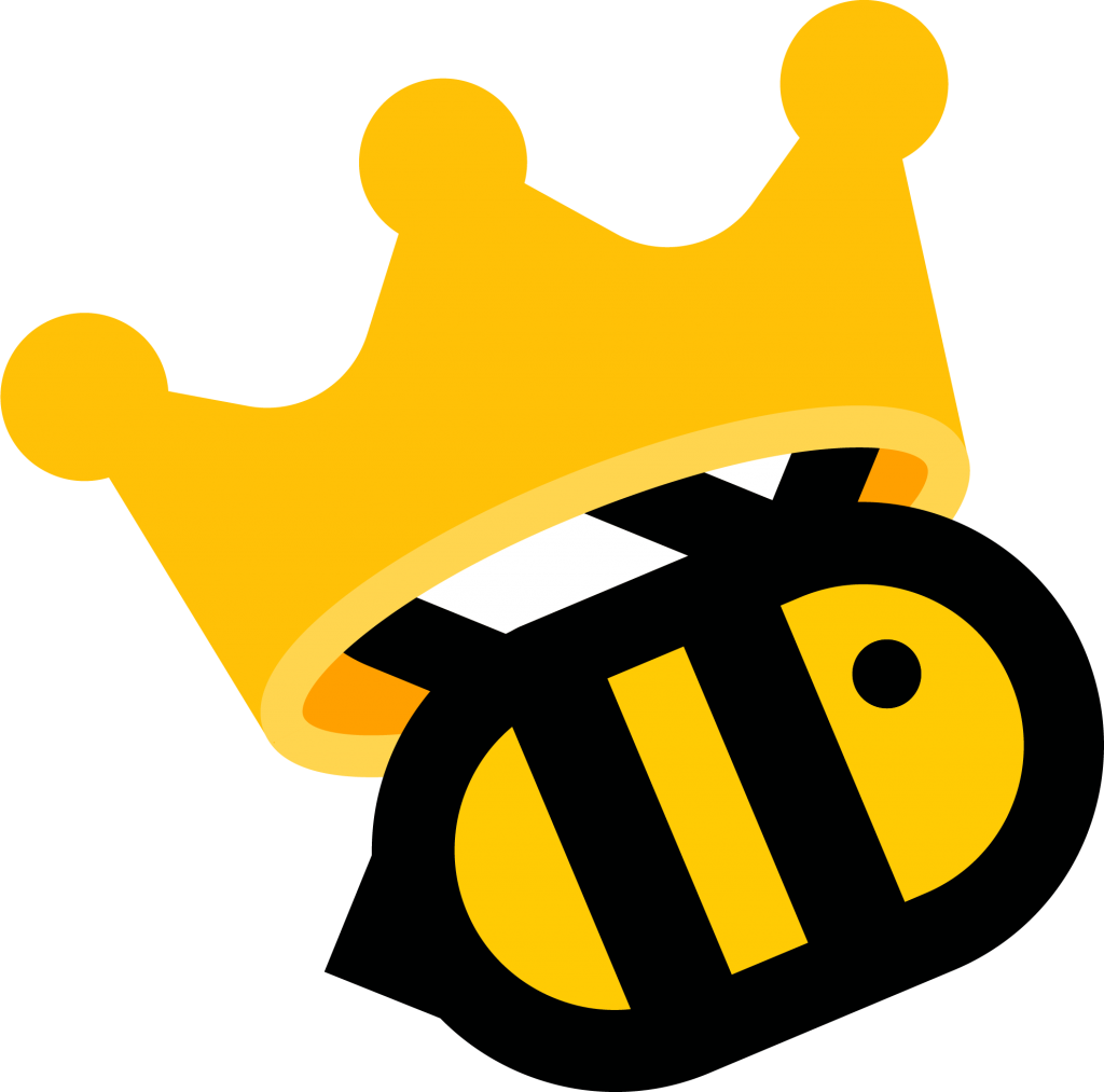 abeja con corona